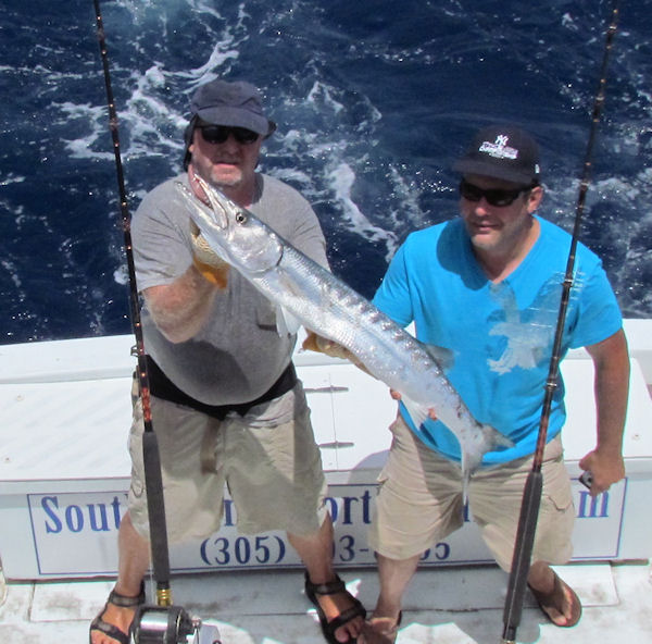 Barracuda aught in Key West fishing on charter boat Southbound from Charter Boat Row