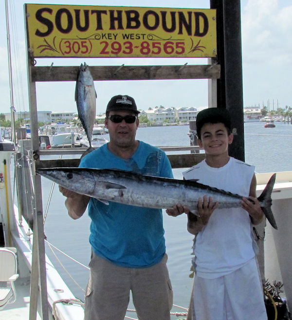 Wahoo aught in Key West fishing on charter boat Southbound from Charter Boat Row