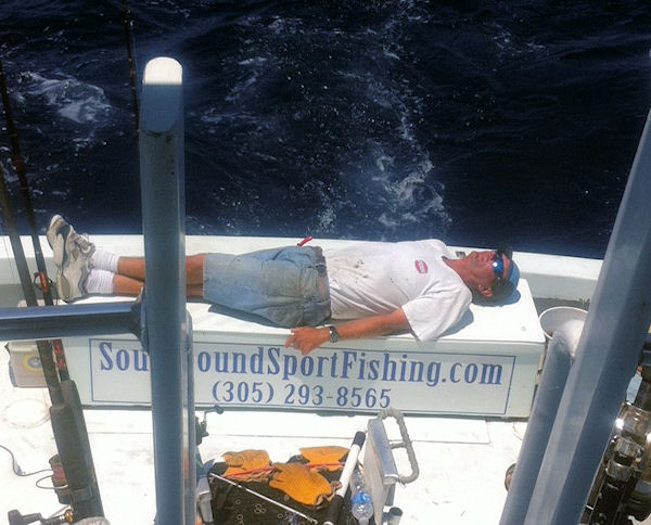 Ben takes a break in Key West fishing on charter boat Southbound from Charter Boat Row, Key West