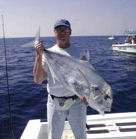 Best African Pompano caught aboard Southbound in Key West Florida in 2000