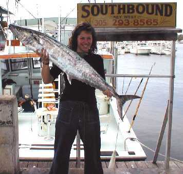 Best Kingfish caught aboard Southbound in Key West Florida in 2000