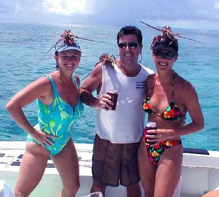 Best Lobster caught aboard Southbound in Key West Florida in 2000