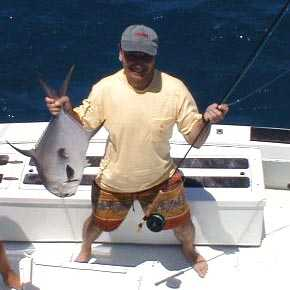 Best Permit on fly caught aboard Southbound in Key West Florida in 2000