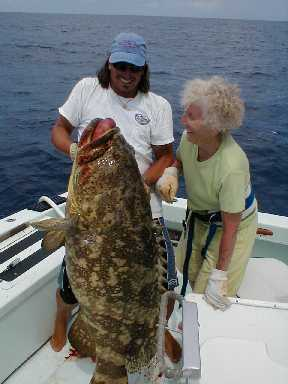 Best jewfish caught aboard Southbound in Key West Florida in 2000