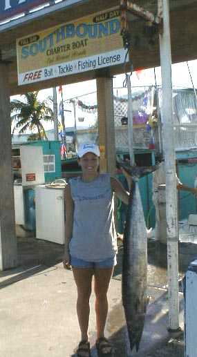 Best wahoo caught aboard Southbound in Key West Florida in 2000