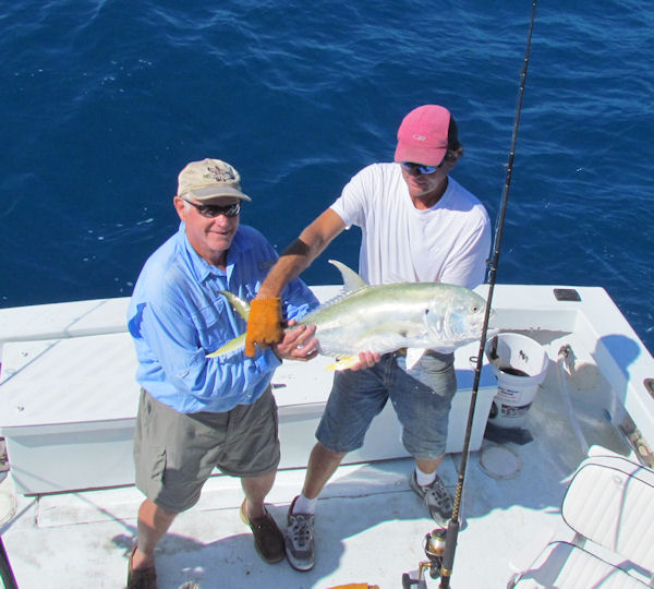 Big Cravalle Jack caugth in Key West fishing on charter boat Southbound from Charter Boat Row Key Wes