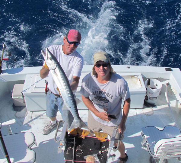 Big Barracudal caugth in Key West fishing on charter boat Southbound from Charter Boat Row Key Wes