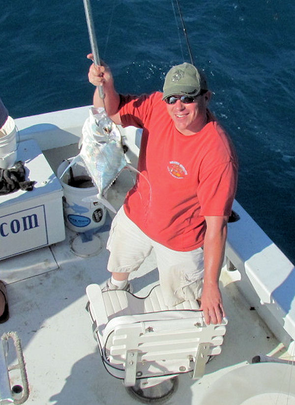 African Pompano caught fishing Key West on charter boat Southbound from Charter Boat Row Key West