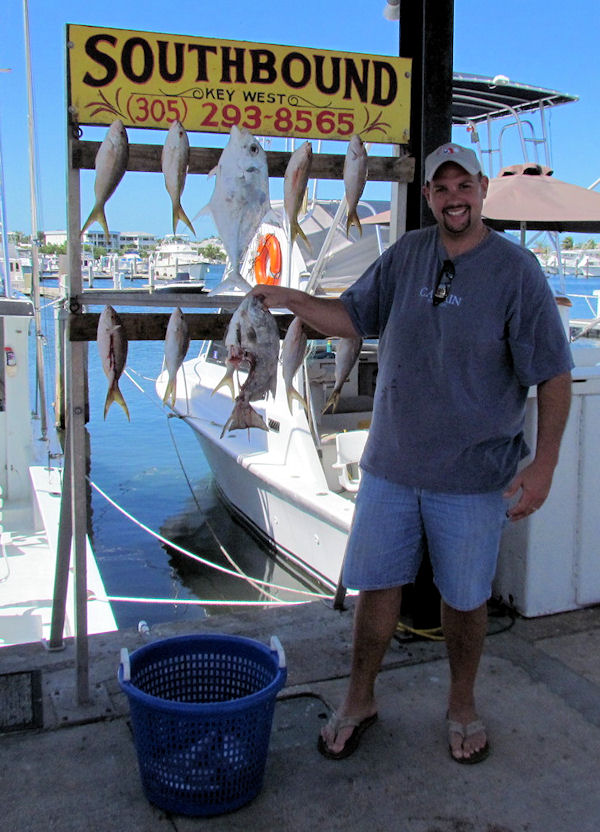 Half eaten Spade fish caught fishing Key West on charter boat Southbound from Charter Boat Row Key West