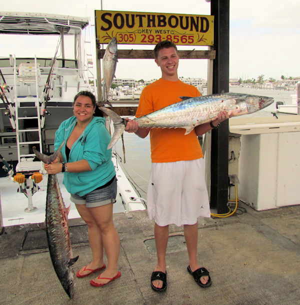 26 and 30 lb kingfish caught fishing Key West on charter boat Southbound from Charter Boat Row Key West