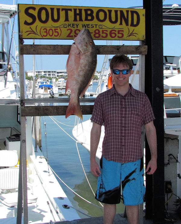 19 lb Mutton Snapper caught in Key West fishing on charter boat Southbound from Charter Boat Row, Key West