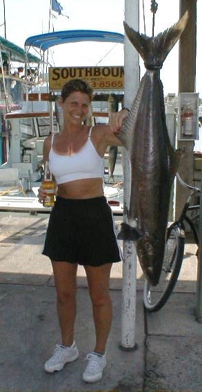 Cobia caught aboard Southbound in Key West Florida in 2000