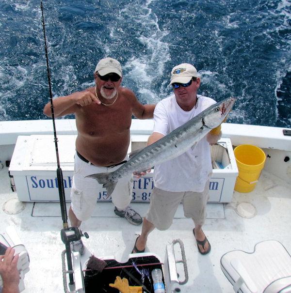 Big Barracuda caught fishing Key West on charter boat Southbound from Charter Boat Row Key West