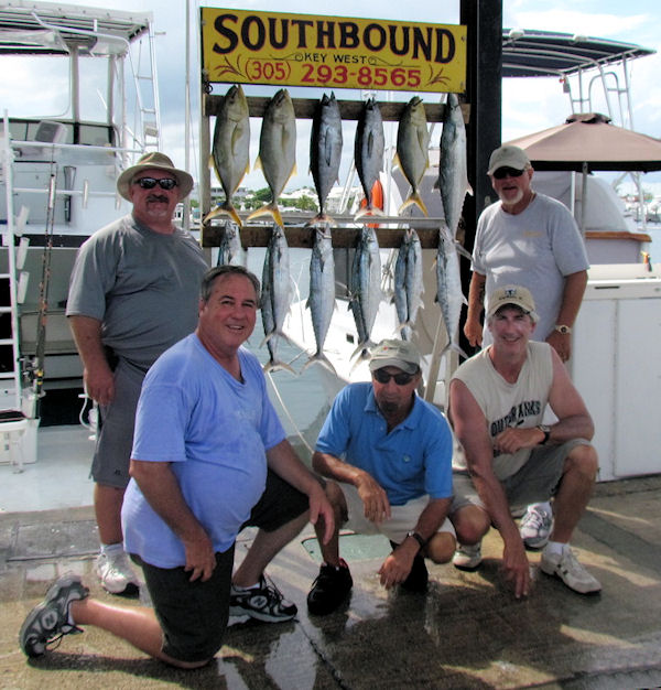 Tuna, Jacks and Mackerel caught fishing Key West on charter boat Southbound from Charter Boat Row Key West