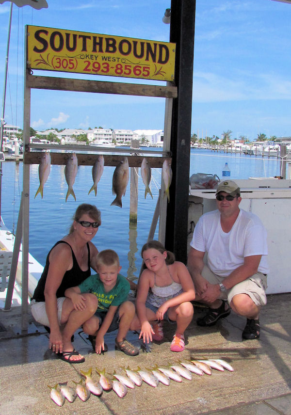 Snappers caught in Key West fishing on charter boat Southbound from Charter Boat Row