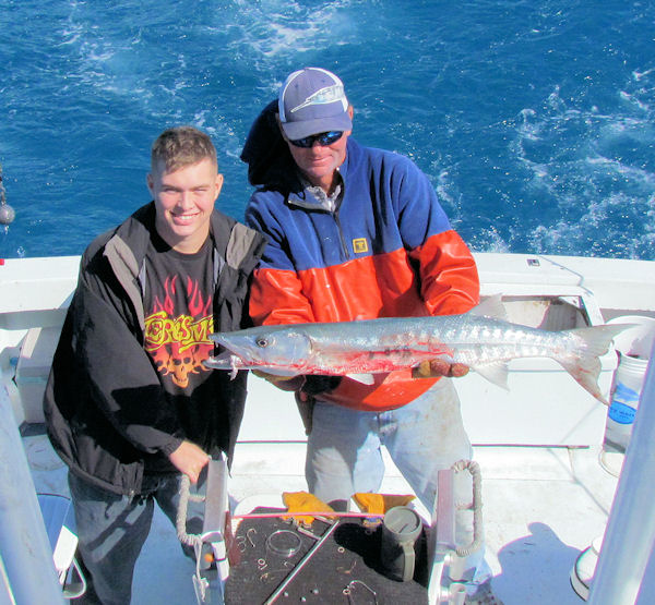 Barracudal caught fishing in Key West on Charter Boat Southbound from Charter Boat Row Key West