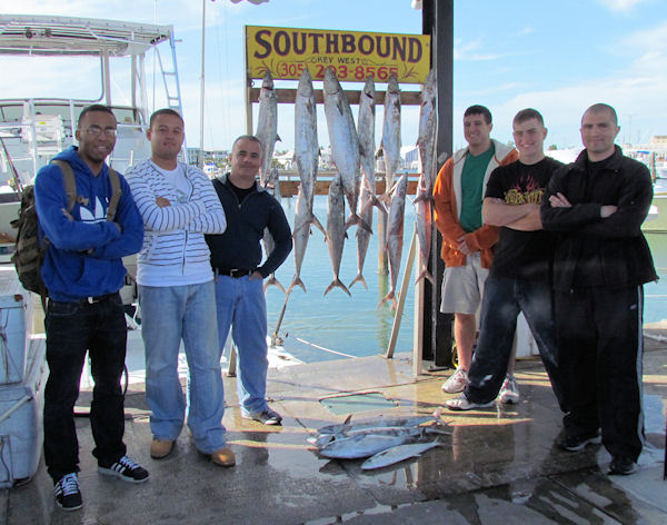 King Mackerel caught fishing in Key West on Charter Boat Southbound from Charter Boat Row Key West