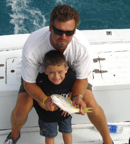 Yellow Tail Snapper caught aboard Southbound in Key West Florida in 2005
