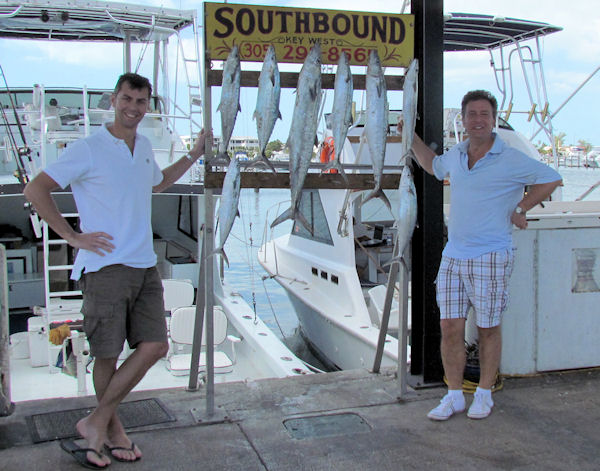 Kingfishl caught fishing in Key West on Charter Boat Southbound from Charter Boat Row Key West