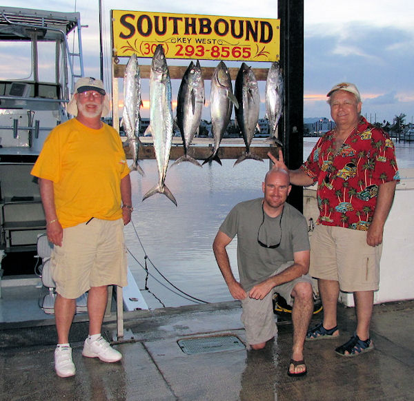 Kingfish and Black Fin Tuna caught fishing Key West on charter boat Southbound from Charter Boat Row Key West