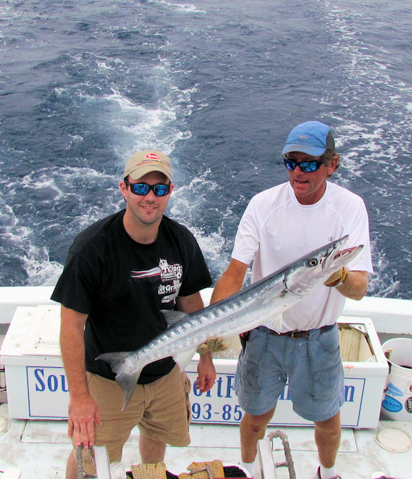 Barracuda caught in Key West fishing on charter boat Southbound from Charter Boat Row, Key West