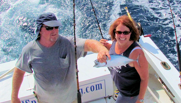 Bonito aught in Key West fishing on charter boat Southbound from Charter Boat Row