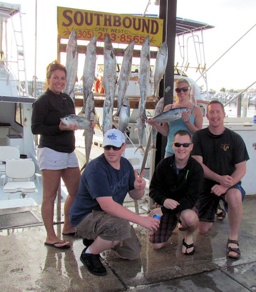 King Mackerel and Bonitos caught fishing in Key West on Charter Boat Southbound from Charter Boat Row Key West