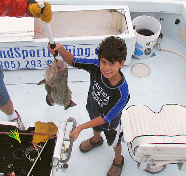 Grouper caught fishing Key West on charter boat Southbound from Charter Boat Row Key West