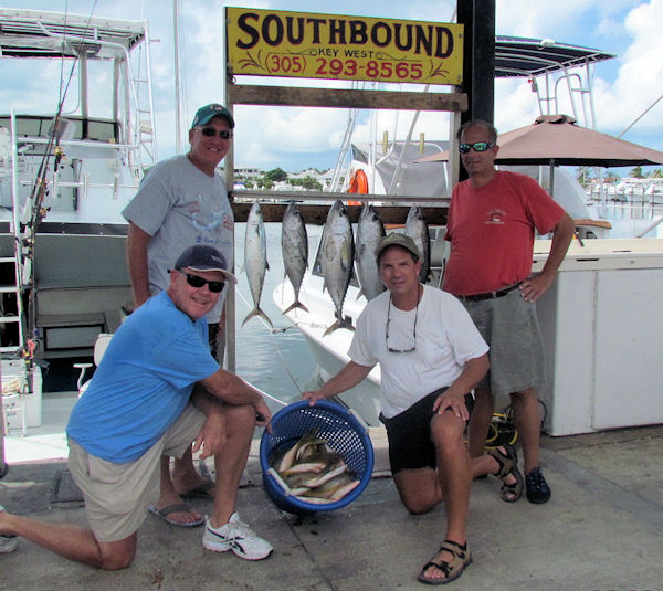 Black Fin Tuna and Yellow Tail Snapper caught fishing Key West on charter boat Southbound from Charter Boat Row Key West
