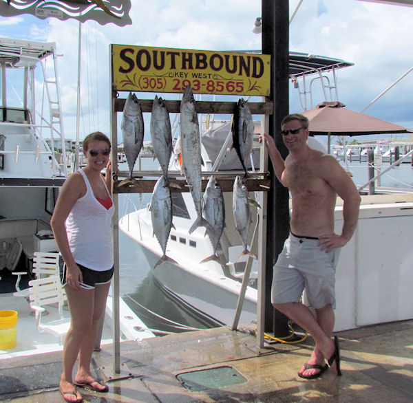 Black Fin Tuna a Kingfish caught fishing Key West on charter boat Southbound from Charter Boat Row Key West