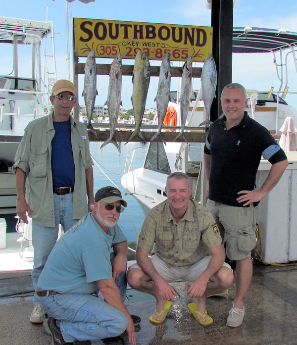Barracudal, Bonito, dolphin and Kingfish caught fishing in Key West on Charter Boat Southbound from Charter Boat Row Key West