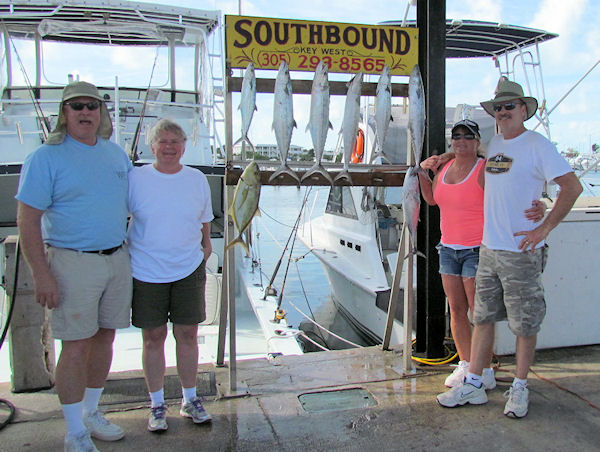 Mackerels and Yellow Tail Snapper caught fishing Key West on charter boat Southbound from Charter Boat Row Key West