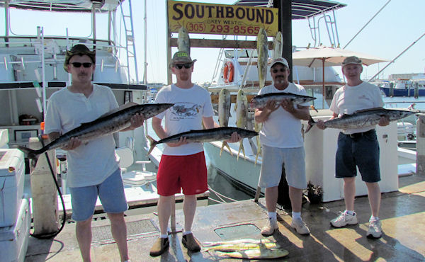 Wahoo caught in Key West fishing on charter boat Southbound from Charter Boat Row, Key West