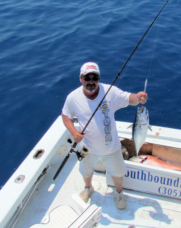 Bonito caught in Key West fishing on charter boat Southbound from Charter Boat Row, Key West