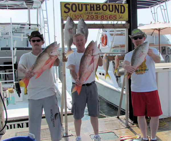 Mutton snapper caught in Key West fishing on charter boat Southbound from Charter Boat Row, Key West