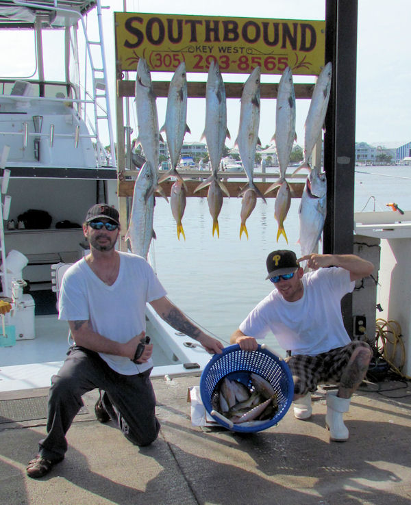 Kingfish, Cero Mackerel and Yellow Tail Snapper caugth in Key West fishing on charter boat Southbound from Charter Boat Row Key West