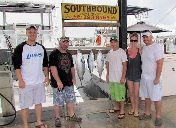 Bonitos caught fishing Key West on charter boat Southbound from Charter Boat Row Key West