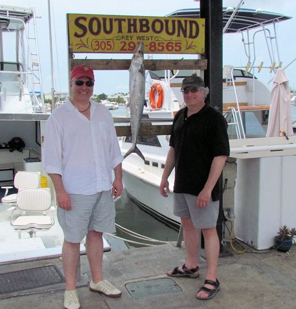 Kingfish caught in Key West fishing on charter boat Southbound from Charter Boat Row, Key West