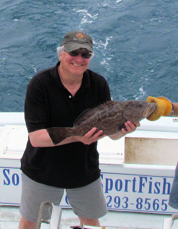 Black Grouper caught in Key West fishing on charter boat Southbound from Charter Boat Row, Key West