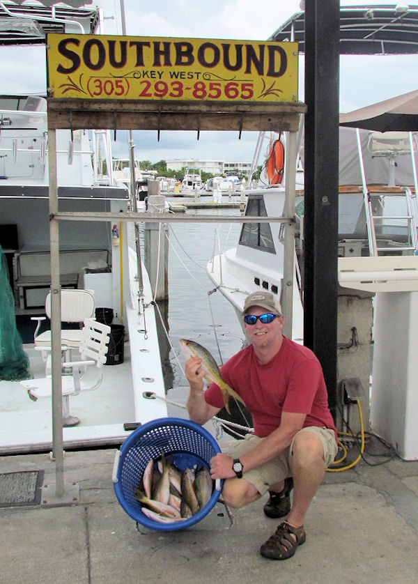 Yellow Tail Snapper caught fishing Key West on charter boat Southbound from Charter Boat Row Key West