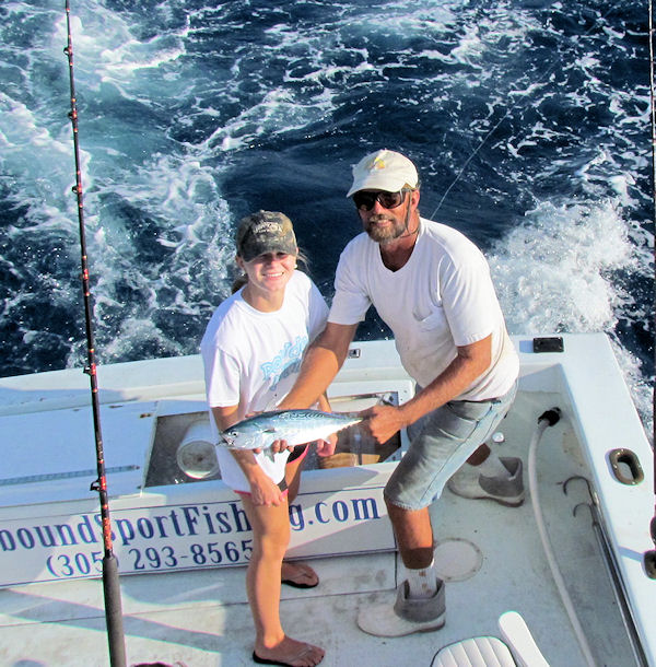 bonito caught in Key West fishing on charter boat Southbound from Charter Boat Row