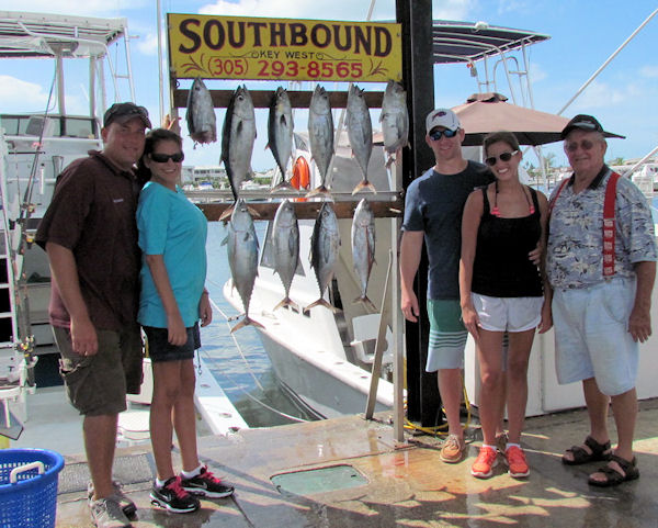 Black Fin Tuna caught fishing Key West on charter boat Southbound from Charter Boat Row Key West