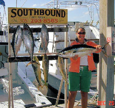 Black Fin Tuna caught aboard Southbound in Key West Florida in 2005