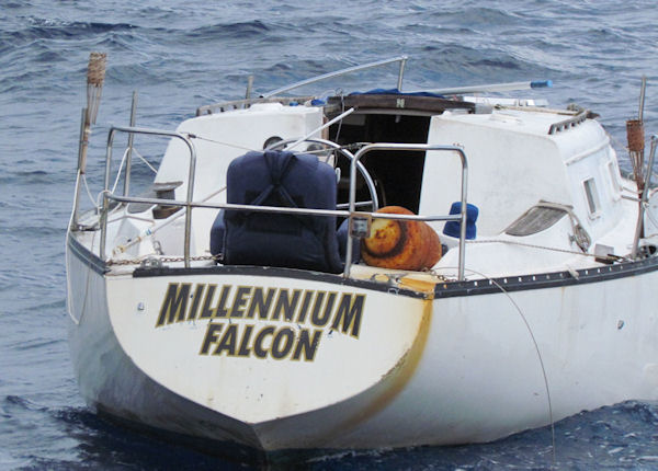 Sailboat found adrift while in Key West fishing on charter boat Southbound from Charter Boat Row
