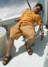 Most Relaxed  aboard Southbound in Key West Florida in 2000