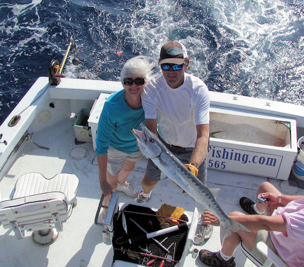 Barracuda caught and released in Key West fishing on charter boat Southbound from Charter Boat Row, Key West