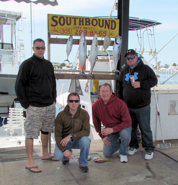 Bonitos and Cero Mackerel caught fishing in Key West on Charter Boat Southbound from Charter Boat Row Key West