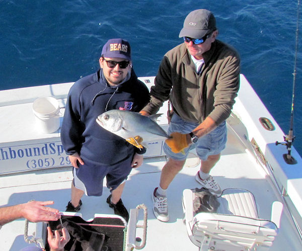 Horse Eye Jack caught fishing Key West on charter boat Southbound from Charter Boat Row Key West