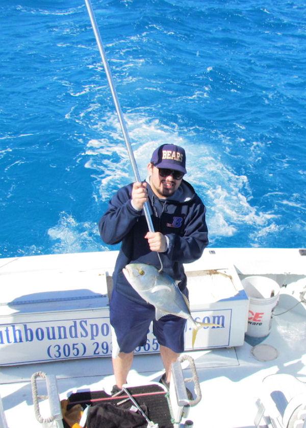 Yellow Jack caught fishing Key West on charter boat Southbound from Charter Boat Row Key West
