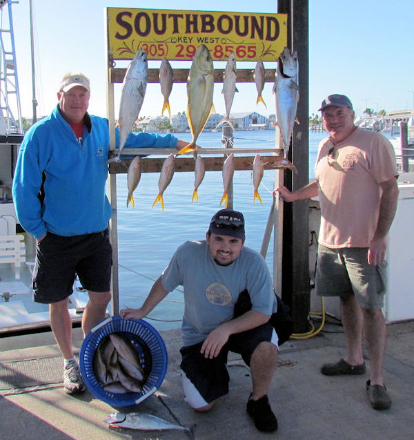 Fish caught fishing Key West on charter boat Southbound from Charter Boat Row Key West